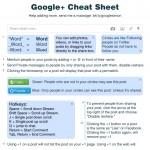 Google+ Cheat Sheet